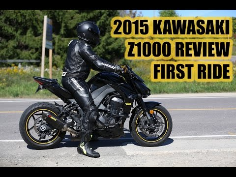 2015 KAWASAKI Z1000 REVIEW   FIRST RIDE   AKROPOVIC EXHAUST   No Chicken Strips
