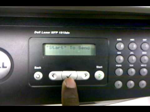 Scan to email via network Dell 1815dn