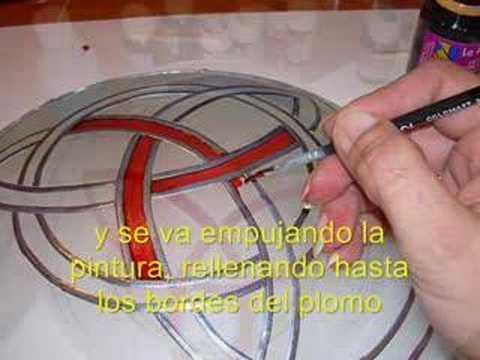 Reformar una lampara falsa vidriera youtube - Como hacer una vidriera ...