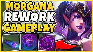 NEW MORGANA REWORK IS AMAZING! *INSANE AOE COMBO* REWORKED MORGANA GAMEPLAY! - League of Legends