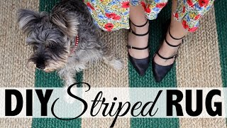 DIY Striped Rug  |  Home Decor: Ikea Hack
