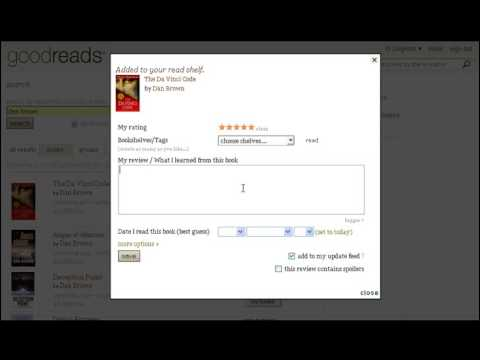 GoodReads Tutorial - How To Setup Your GoodReads Account