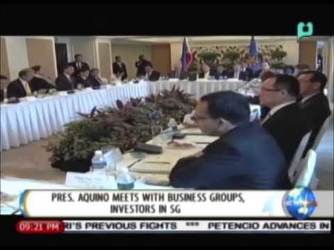 NewsLife: President Aquino meets with business groups, investors in Singapore