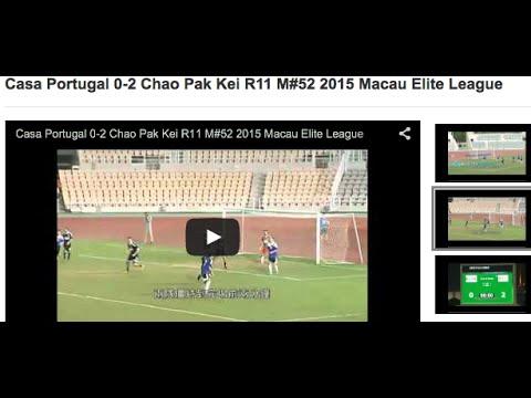 Casa Portugal 0-2 Chao Pak Kei R11 M#52 2015 Macau Elite League