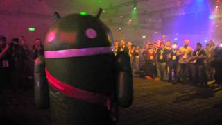 Android Dancer going wild @Google IO 2011 After Party II