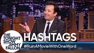 Hashtags: #RuinAMovieWithOneWord