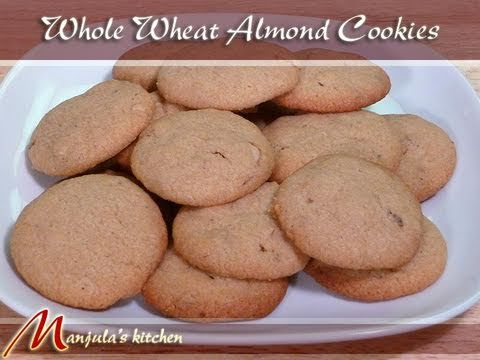 Whole Wheat Almond Eggless Cookies by Manjula