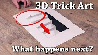 How to Draw 3D Steps Anamorphic Illusion SURPRISE ENDING!