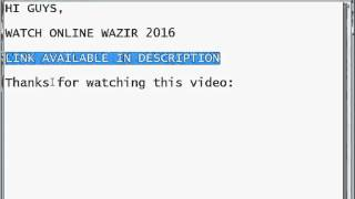 Watch online Wazir full hindi movie 2016 link in description available