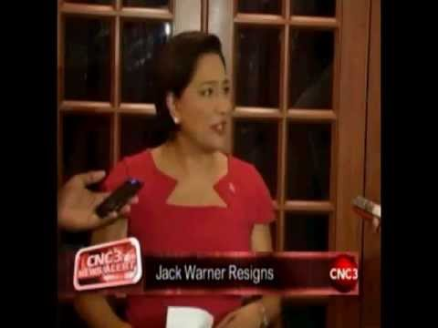 Jack Warner resigns as Minister of National Security.  CNC3 coverage w/ Golda Lee Bruce