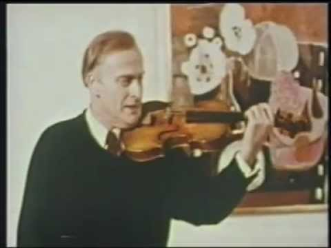 Yehudi Menuhin Violin Tutorial - 1. The Preparation