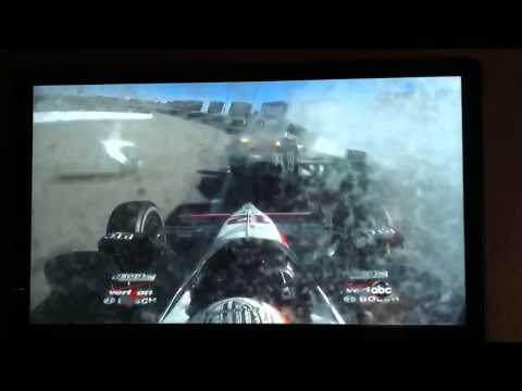 Will Power In Car Crash Video Involving Dan Wheldon Las Vegas 2011 Indycar