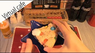 ASMR Cafe【3D sound】 一人称視点ver.【ビックソフトクッキー】注:咀嚼音