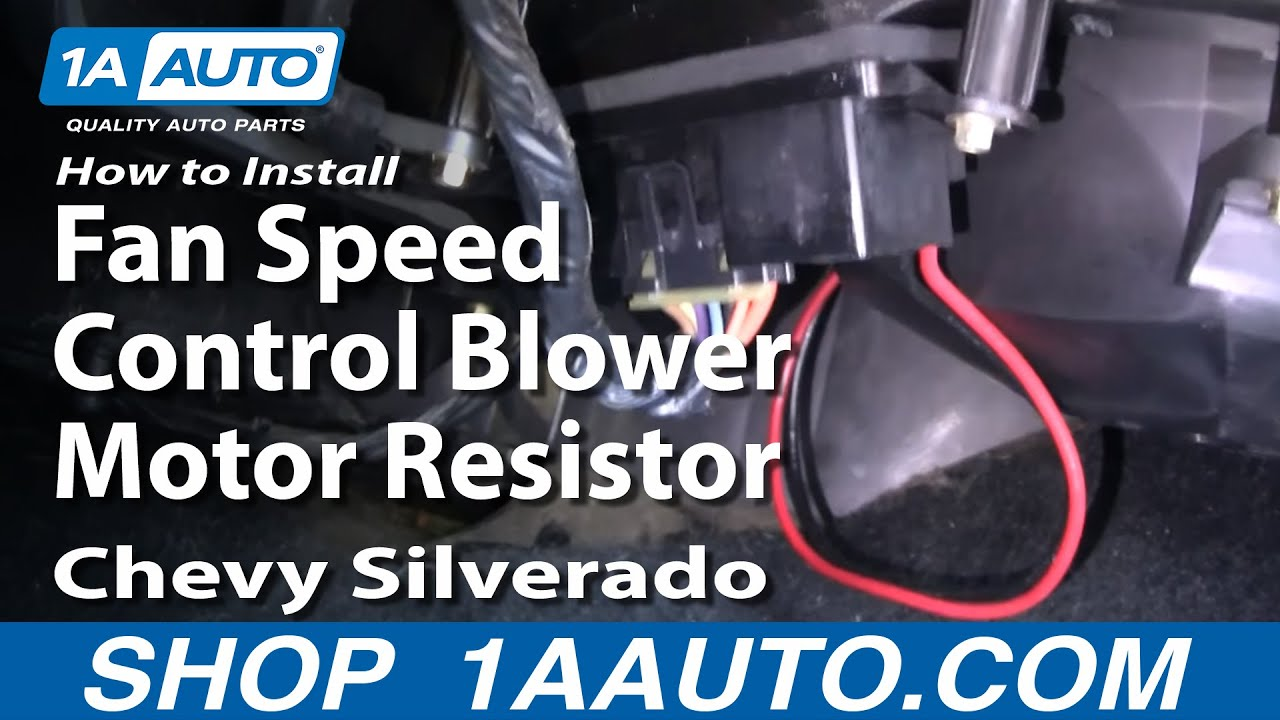install fan speed control blower motor resistor