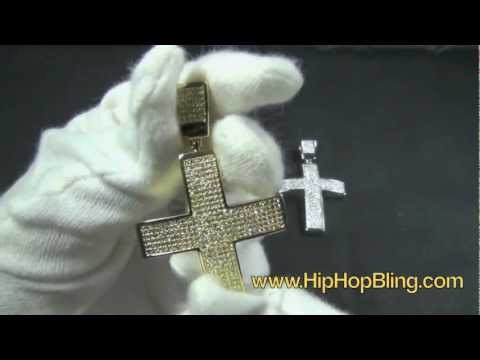 6 Row Micro Pave Cross BLING BLING