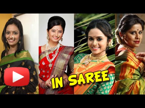 ... Best in Saree - Sai Tamhankar, Priya Bapat, Neha Pendse - YouTube