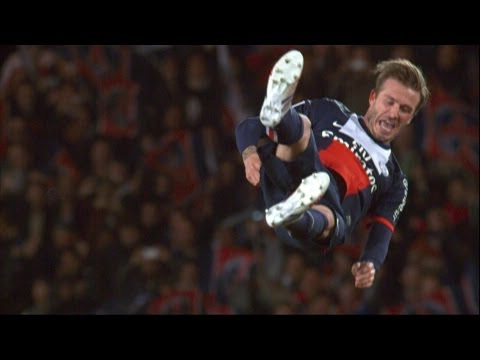 Les larmes de Beckham, son dernier match au Parc des Princes (PSG-Brest)