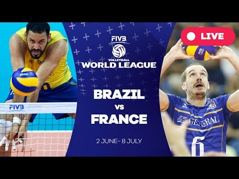 Brazil V France Group 1 2017 Fivb Volleyball World League Youtube