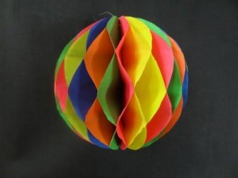 קישוט לסוכה - כדור צבעוני