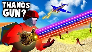 INFINITY WAR Battle! The New THANOS GUN! (Ravenfield Best Mods)