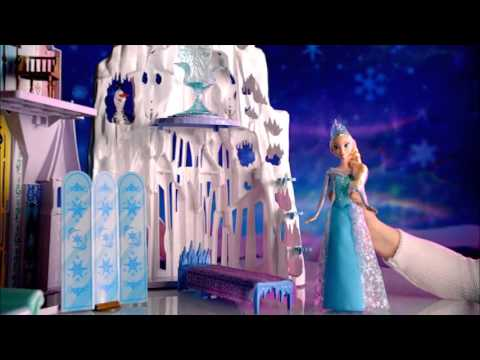 Frozen Mattel 2 In 1 Castle Ice Palace Playset Commercial