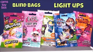 Blind Bags Toy Light Ups LOL Surprise Paw Patrol Trolls Shopkins Review Unboxing
