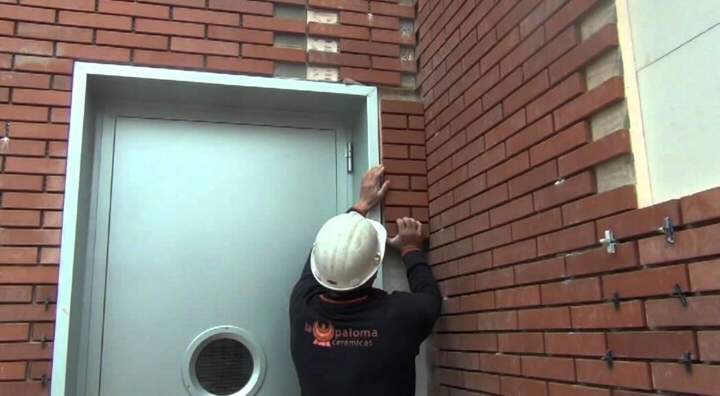 Termoklinker paneles aislantes m s plaqueta cer mica - Como colocar ladrillos en una pared ...