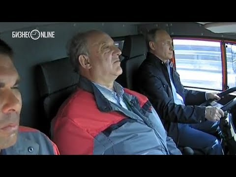 Путин открыл Крымский мост за рулем Камаза