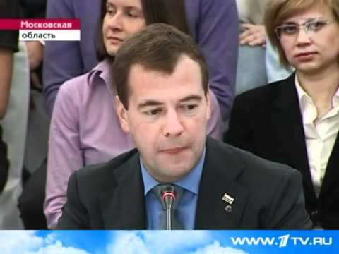 Dmitry Medvedev and Arnold Shwarzenegger in Skolkovo