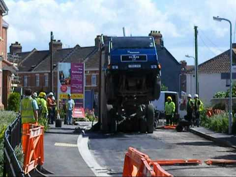 lorry driver had a lucky escape