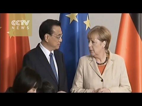 Economic ties in focus as Li & Merkel meet