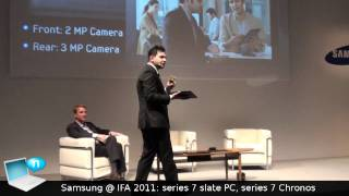 Samsung @ IFA 2011_ Series 7 Slate PC and Series 7 Chronos