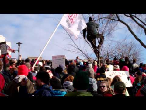 Tony Shaloub speech at Rally Madison State Capitol 3-12-2011 Monk vs Walker