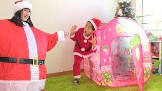 サンタクロース 修業 サンタごっこ 太ってみよう!!! おゆうぎ こうくんねみちゃん