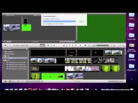 How to remove black backgrounds using only iMovie09 iMovie11 tutorial (Tut. 1 of 13)