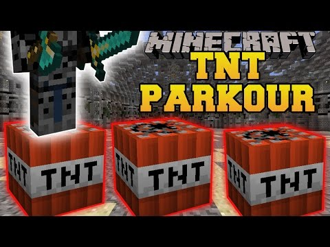 Minecraft: TNT PARKOUR INSANITY (DON'T FALL INTO THE DEPTHS!) Mini-Game