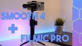 Easy cinematic shots with Zhiyun Smooth 4 + Filmic Pro + Smartphone!