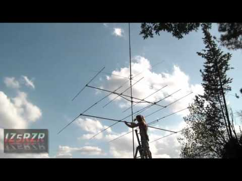 IZ5RZR   Testing Icom IC 746 and 4 Elements Yagi antenna