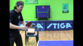Table Tennis - backhand block (main principle)