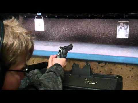 11 yr old Shooting .22 Caliber Magnum Revolver L.A. Gun Club