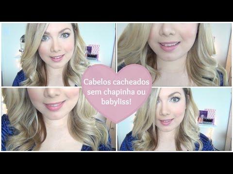 CACHOS SEM CHAPINHA ou BABYLISS! Como enrolar os cabelos SEM ferramentas - Beauty By Renata