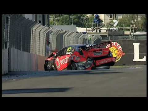 V8 Supercars : Jamie Whincup Crashes (New Zealand 2008 Qualifying)