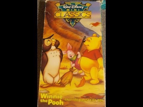 Closing To Winnie The Pooh And The Blustery Day 1993 Vhs video
