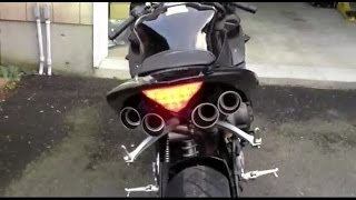 Most loud sports bike exhaust sound system..!!
