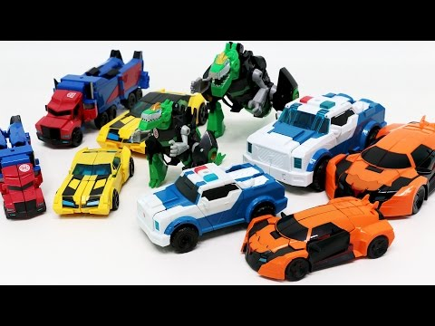 Transformers Robots In Disguise RID Optimus Prime Bumblebee 10 Vehicles Robot Car Toys