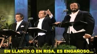 Los 3 Tenores La Donna E Mobile Subtitulada Español Hd Los Ángeles 1994