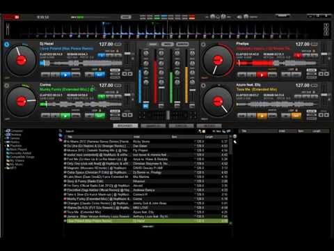Mix Virtual Dj 4 decks + BCD 3000