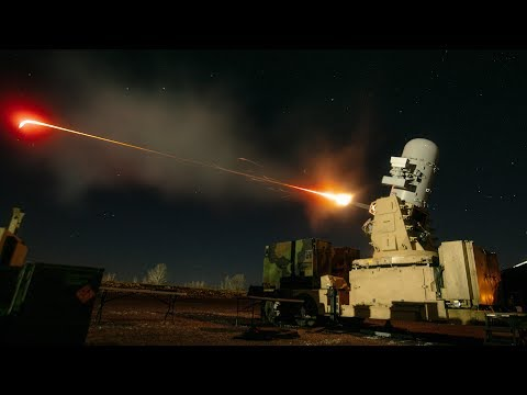 Monstrously Powerful C-RAM in Action / Firing - Counter Rocket, Artillery, and Mortar