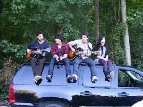 Jonas Brothers with Demi Lovato singing in Rockwood Ontario.