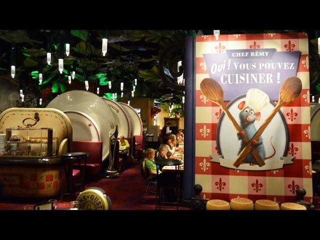 Bistrot Chez Remy Tour at Walt Disney Studios Disneyland Paris in La Place de Rémy - Decor, Food